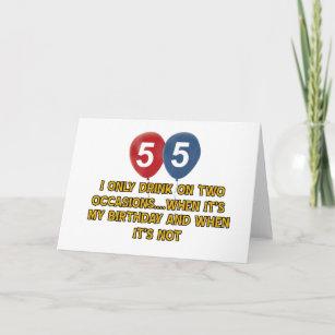 55 Year Old Birthday Designs Card