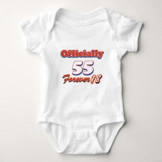 55 years old birthday designs baby bodysuit
