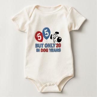 55 years Old birthday designs Baby Bodysuits