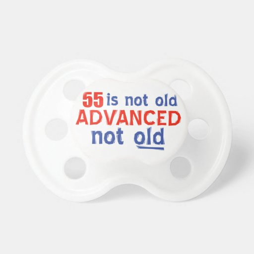 55 years Old birthday designs Pacifier