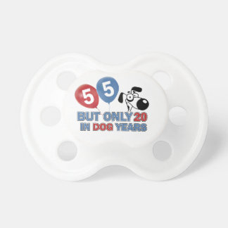 55 years Old birthday designs Baby Pacifiers