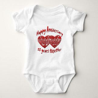 55th. Anniversary Baby Bodysuit