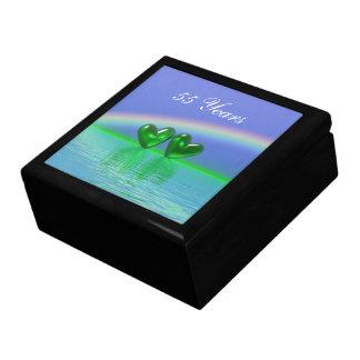 55th Anniversary Emerald Hearts Large Square Gift Box