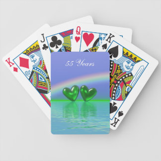 55th Anniversary Emerald Hearts Poker Deck