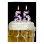 55th Birthday Beer Card