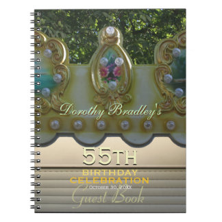 55th Birthday Celebration Carousel Guest Book