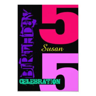 55th Birthday Celebration POP Custom Invitation