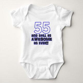 55th birthday design baby bodysuit