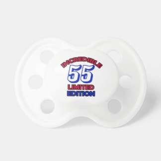 55th Birthday Design Pacifier