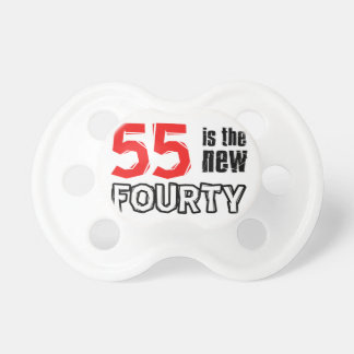 55th birthday designs pacifiers