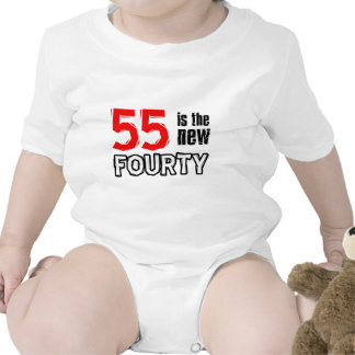 55th birthday designs baby bodysuit