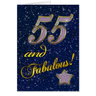 55th birthday for someone Fabulous Card