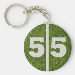 55th Birthday Party Favour Basic Round Button Key Ring