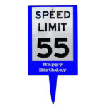 55th Birthday Speed Limit Sign - Cake Topper