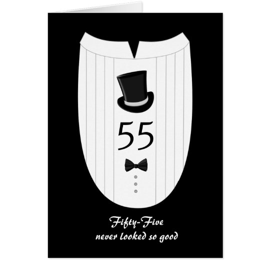 55th For Him Customisable Birthday Greeting Card