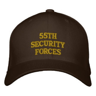 55TH SECURITY FORCES EMBROIDERED BASEBALL CAPS