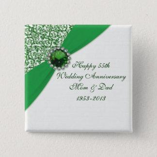 55th Wedding Anniversary Button