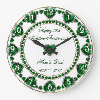 55th Wedding Anniversary Clock