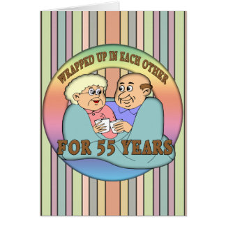 55th Wedding Anniversary Gifts Card