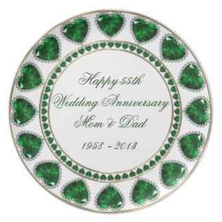 55th Wedding Anniversary Melamine Plate