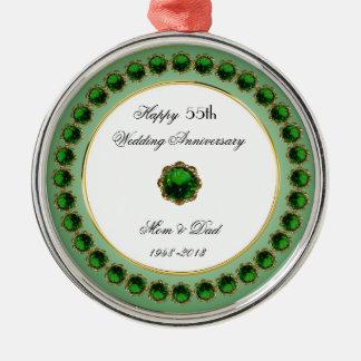 55th Wedding Anniversary Ornament