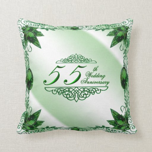 55th Wedding Anniversary Pillow