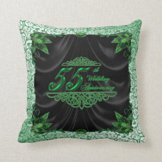 55th Wedding Anniversary Throw Pillow