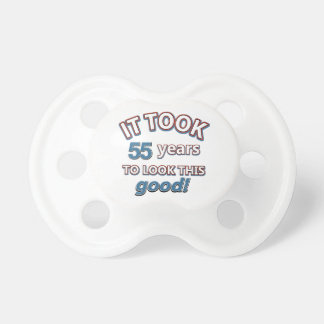 55th year birthday designs baby pacifiers
