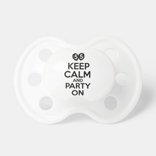 55th year old birthday designs pacifier