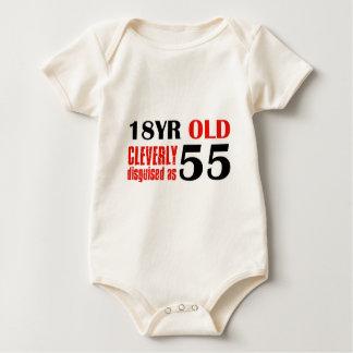 55th year old designs baby bodysuit