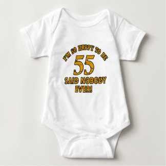 55th year old gifts baby bodysuit