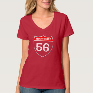 56 anniversary t shirt