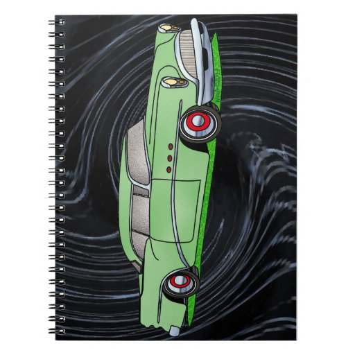 56 Buick 2 door Hardtop Spiral Notebooks