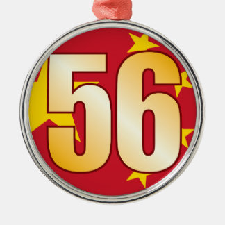 56 CHINA Gold Christmas Ornament