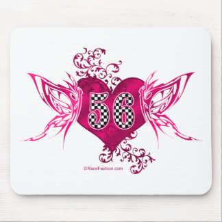 56 racing number butterflies mouse pad