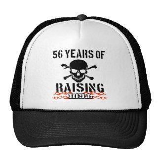 56 years of raising hell trucker hats