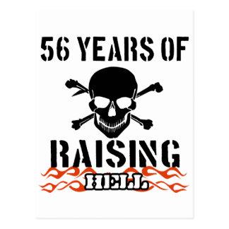 56 years of raising hell postcard