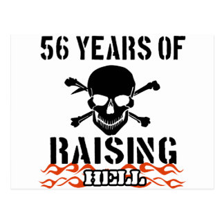 56 years of raising hell postcard