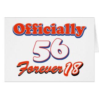 56 years old birthday designs greeting card