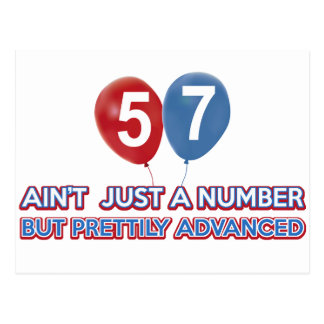57 aint just a number post cards