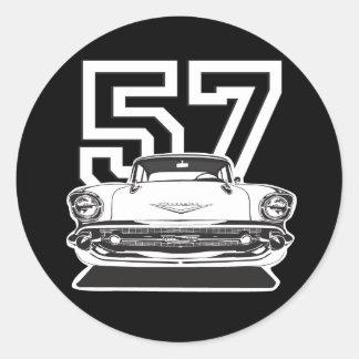 57 Bel Air Round Sticker