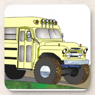 57 Chevrolet Off Road 4X4 School Bus Drink Coasters