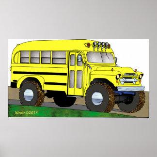 57 Chevrolet Off Road 4X4 School Bus Print