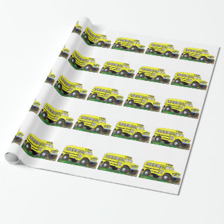 57 Chevrolet Off Road 4X4 School Bus Wrapping Paper