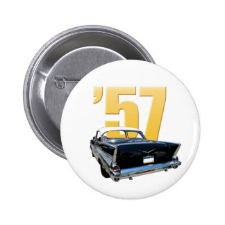 '57 Chevy Bel Aire Rear View 6 Cm Round Badge