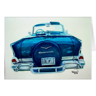 57 Chevy Belaire Greeting Card