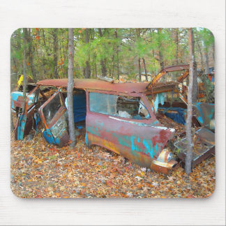 57 Chevy Nomad Rusting in Junkyard Mouse Pad