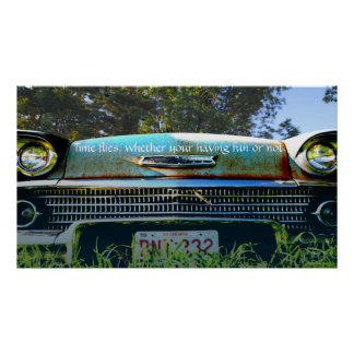 '57 Chevy - The good old days Poster