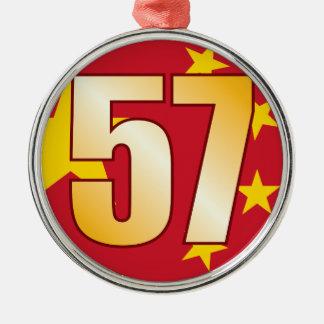 57 CHINA Gold Christmas Ornament