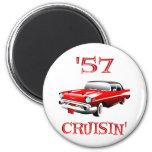 57 Crusin Car 6 Cm Round Magnet